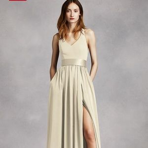 White by Vera Wang Champagne Floor Length  NEW*